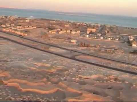 Landing in Hurghada, Red Sea, Egypt