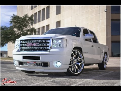 dropped gmc sierra crewcab with a hd denali front end. Black Bedroom Furniture Sets. Home Design Ideas