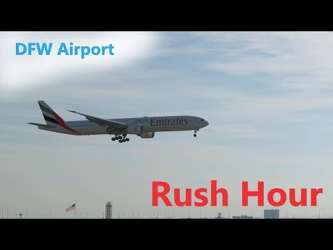 DFW Airport, Plane Spotting ( Rush Hour ) Pt. 3