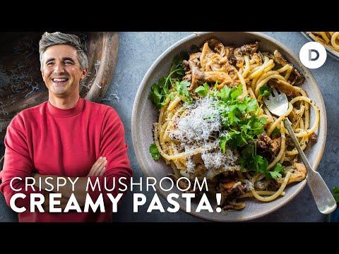 Secret to the CREAMIEST garlic mushroom PASTA!