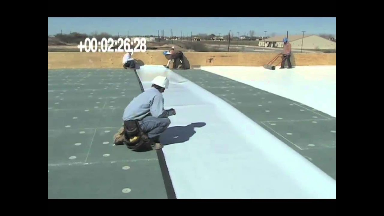 Sat Self Adhering Technology Tpo Roofing System Youtube