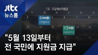 """""""재난지원금, 5월 13일 지급"""" 일정표 낸 청와대…추경 촉구 / JTBC 뉴스룸"""