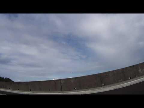 Airplane landing at Rarotonga airport