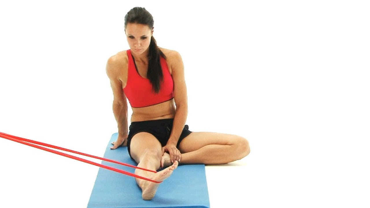 Ankle exercise - inversion with band - YouTube