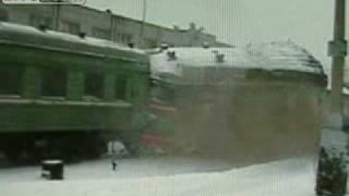 choque de trenes de frente