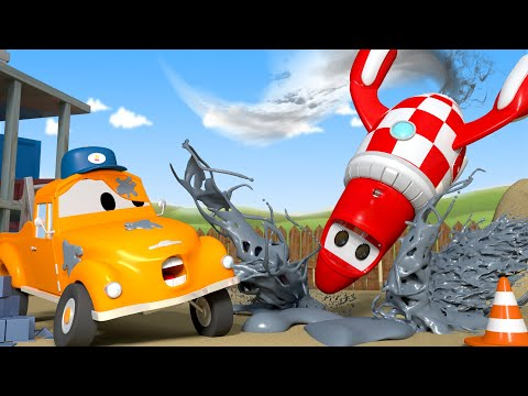 Rocky The Rocket is a mess - Tom the Tow Truck's Car Wash | Cars cartoons for kids