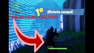 """Victory with the skin """"dark knight"""" -Fortnite ps4-"""