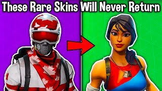 5 RARE SKINS *NEVER* RETURNING in Fortnite! (u missed out on these skins)