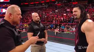 Roman reigns arrested then attacked by brock lesnar
