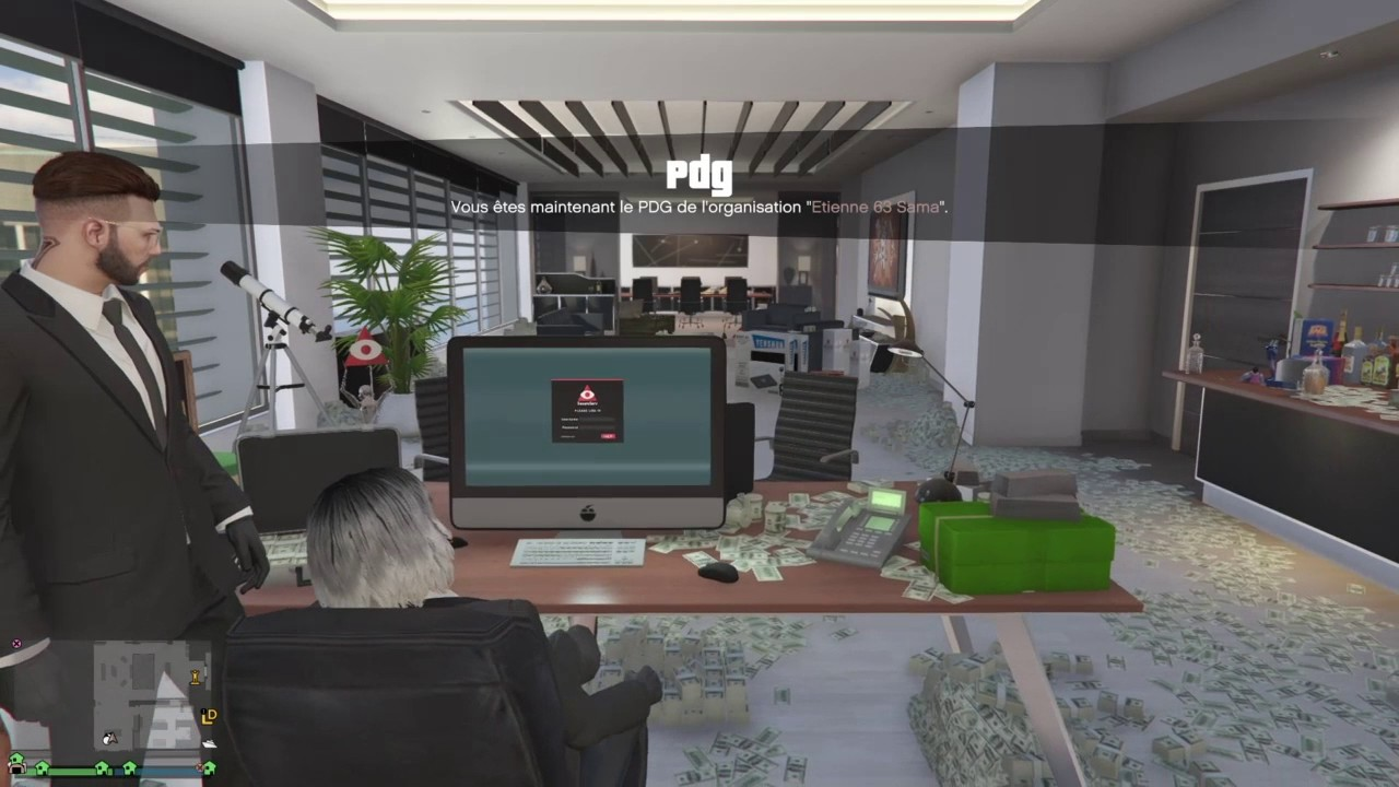 gta 5 online comment avoir des billets dans le bureau youtube. Black Bedroom Furniture Sets. Home Design Ideas
