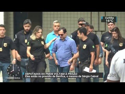 Justiça manda prender de novo deputados do RJ acusados de corrupção | SBT Brasil (21/11/17)