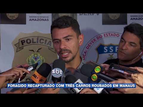 Foragido recapturado com três carros roubados em Manaus