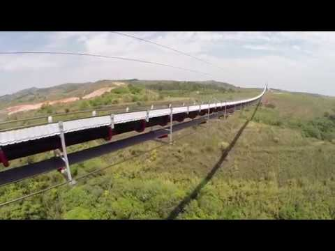 FlyingBelt Barroso Brasile: the longest suspended belt conveyor in the world