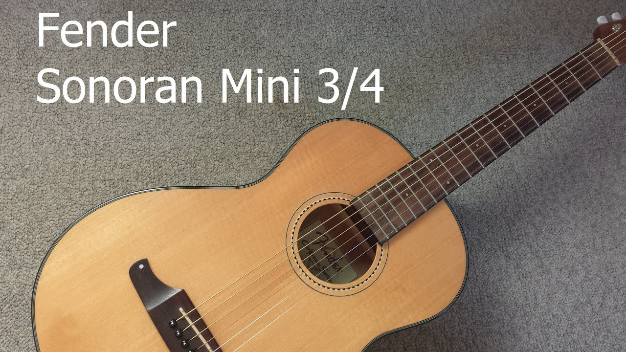 fender sonoran mini 3 4 a review of this lovely guitar youtube. Black Bedroom Furniture Sets. Home Design Ideas