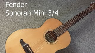 Fender Sonoran Mini 3/4 - A review of this lovely guitar