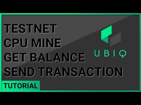 Create account, set coinbase, get balance, send transaction | Gubiq Windows