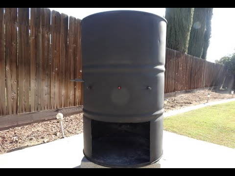 BBQ Burn Barrel For Burning Wood Down To Coals