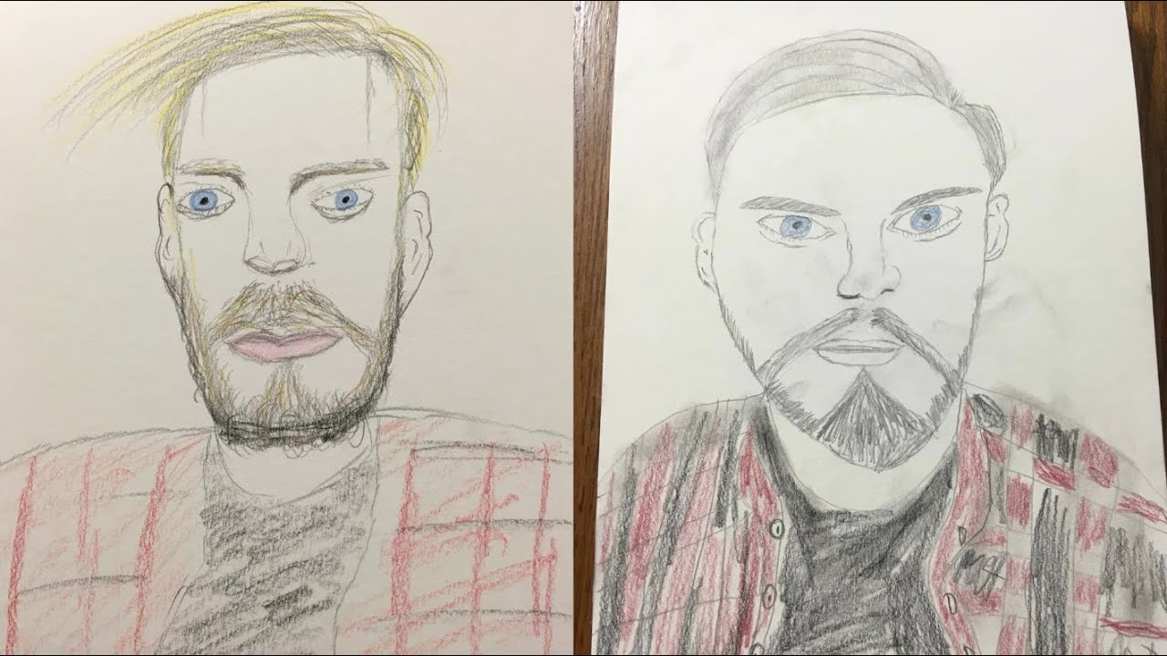 DRAWING FAMOUS YOUTUBERS (A BAD DRAWING)
