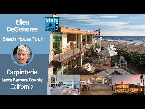 Ellen DeGeneres' Carpinteria Beach House Tour | Near Santa Barbara, California | $18.6 Million
