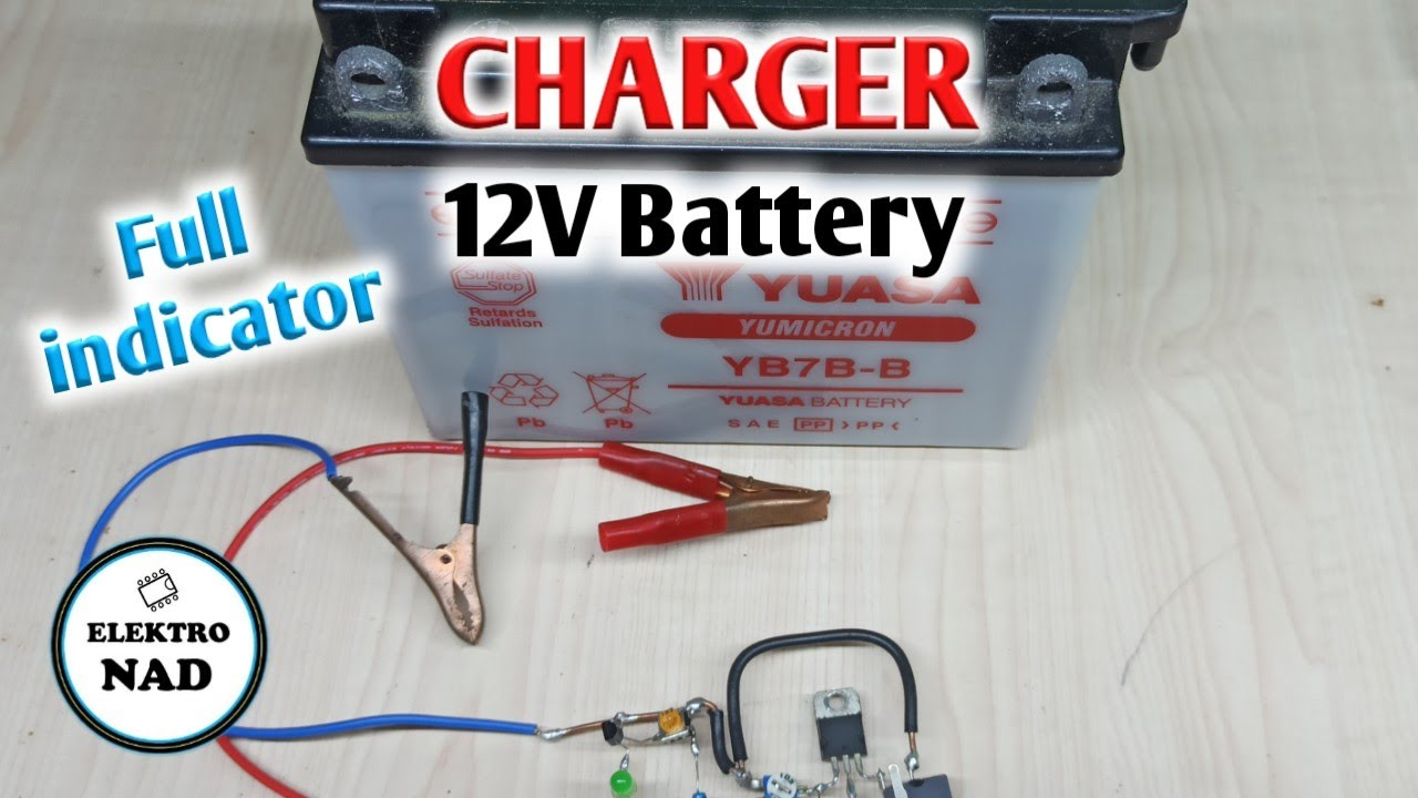 12V battery charger with indicator