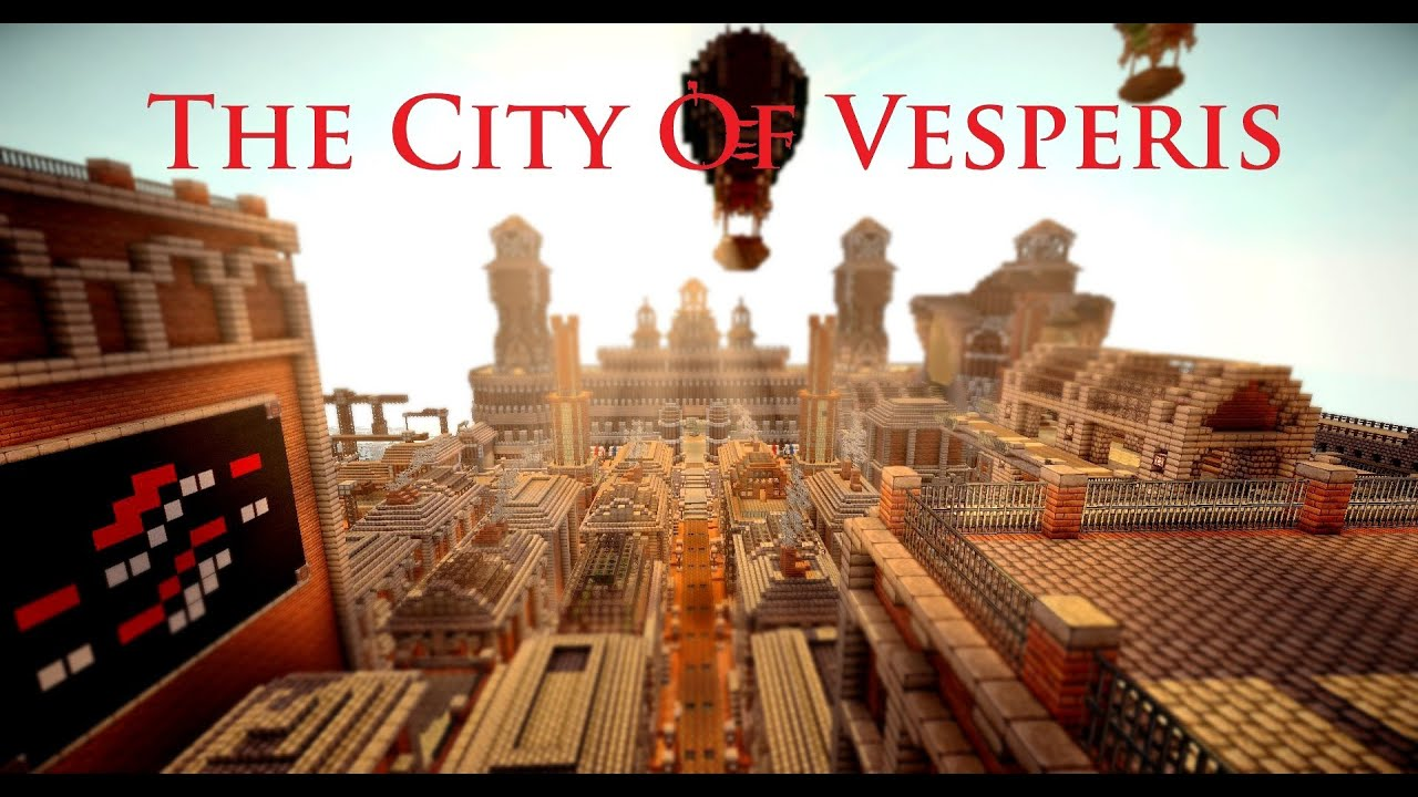 Minecraft Steampunk City: The city of Vesperis - YouTube