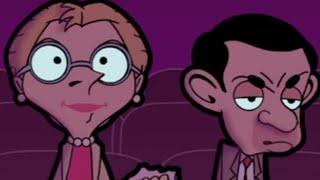 Romantik Film | Mr. Bean Resmi bir Çizgi film izliyor