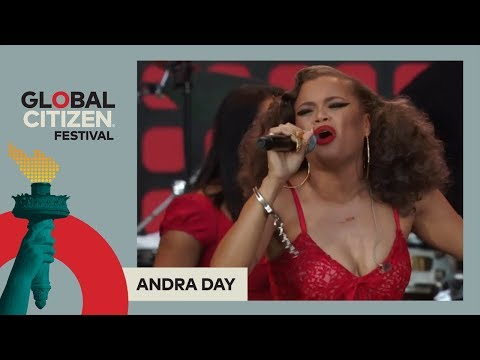 Andra Day Performs 'Stand Up For Something'   Global Citizen Festival NYC 2017