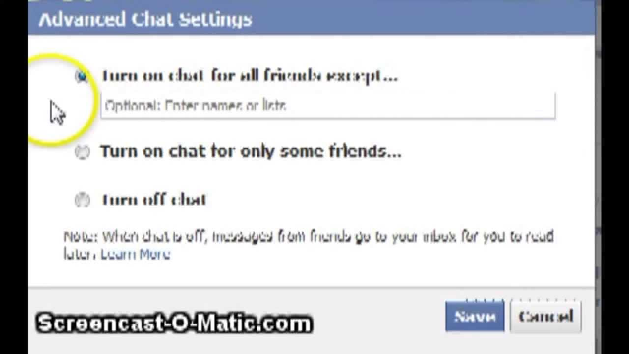 how to delete people from chat in facebook