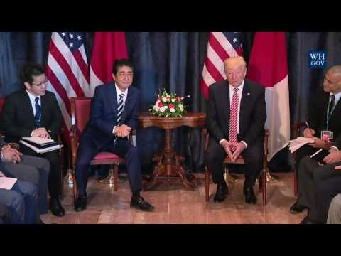 President Trump has a Bilateral Meeting with Prime Minister Abe of Japan