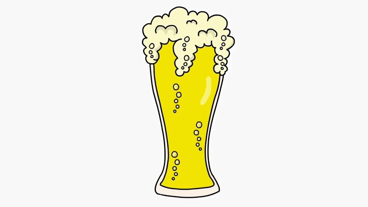 How To Draw A Beer Glass Youtube
