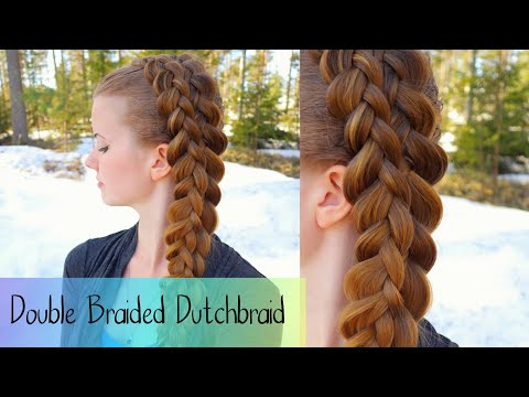 FAKE Multi-Strand Braid | Double Braided Dutch Braid | School Hairstyles | How to Braid Own Hair