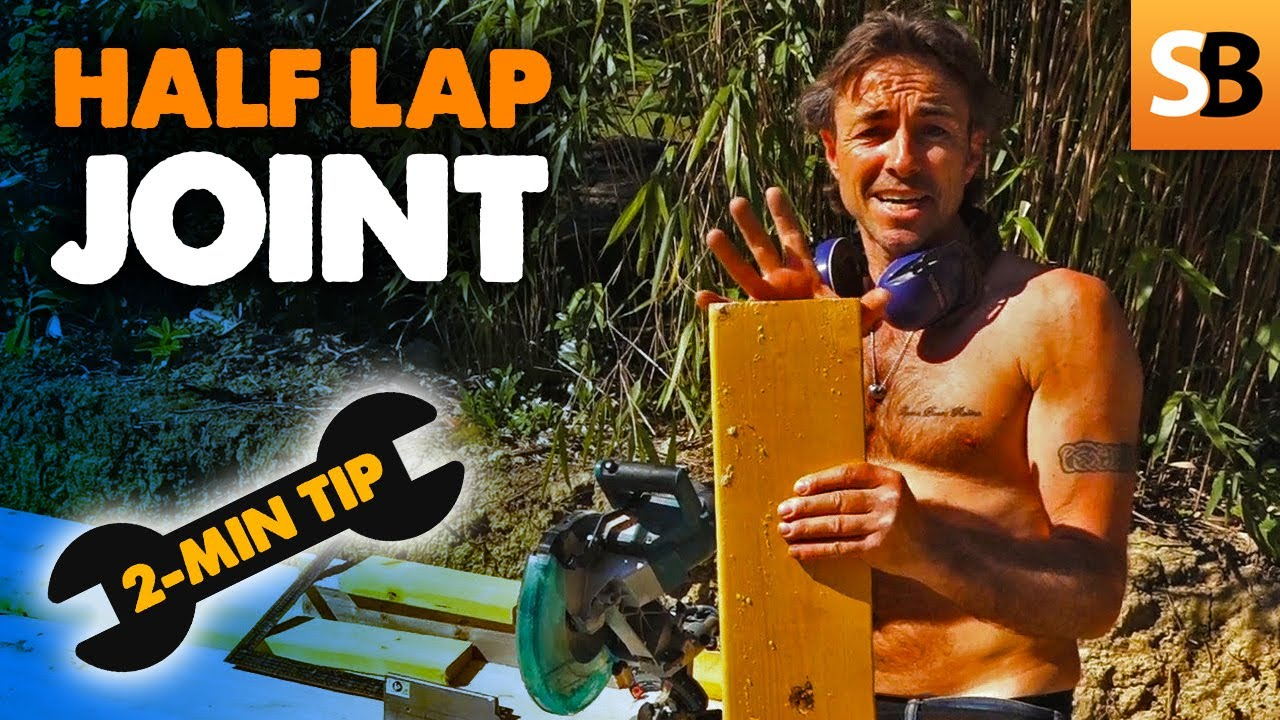 How to Cut a Half Lap Joint ~ 2-Minute Tip