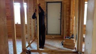 как сделать перегородку в деревянном доме своими руками из дерева