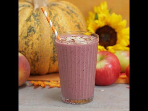 Peach, Cherry & Oat Parfait Smoothie I Power Breakfast Yogurt Smoothie