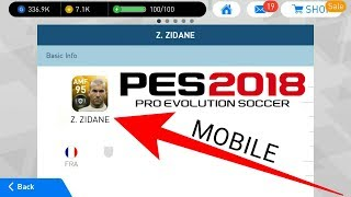 PES Mobile 2018 | Z.Zidane , Rui Costa , A. Shevchenko stats on 30lvl | Secret legends part 1