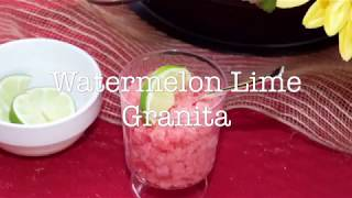 Watermelon Lime Granita