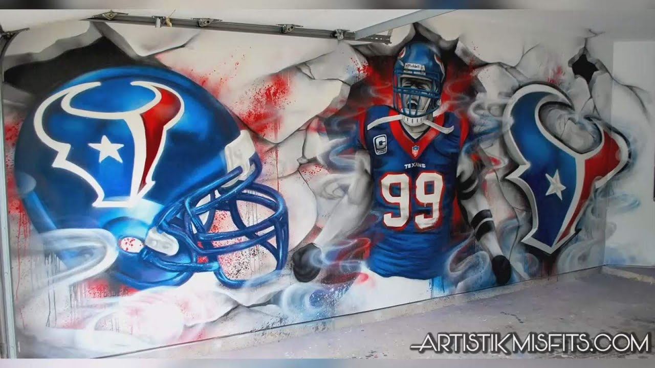 Local artist that made JJ Watt murals across Houston bids farewell