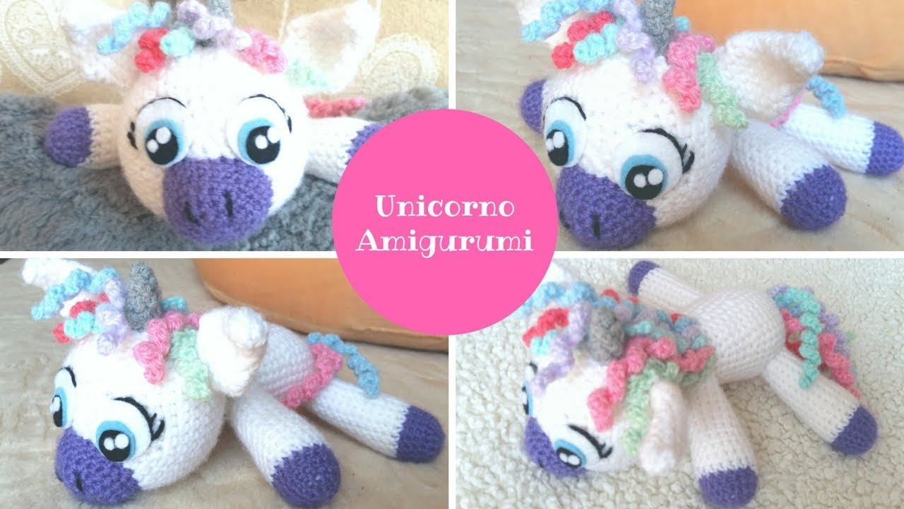 Amigurumi unicorno tutorial unicorn crochet 💕 youtube
