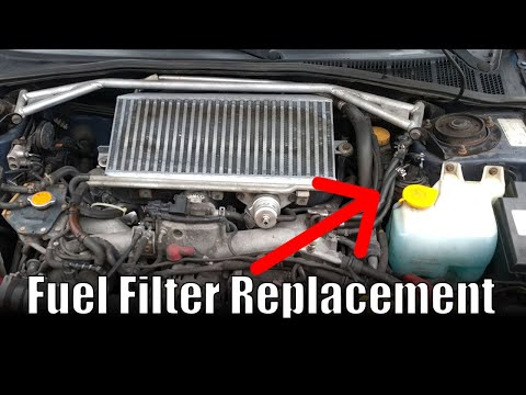 How to change a fuel filter   2002 Subaru Impreza WRX - YouTube