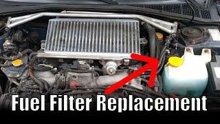 How to change a fuel filter // 2002 Subaru Impreza WRX