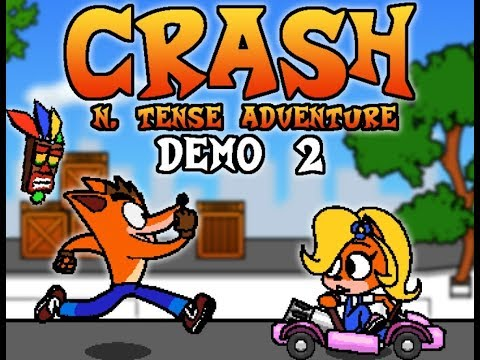 Crash N. Tense - Demo 2 Gameplay / 2D Crash Bandicoot Fan Game