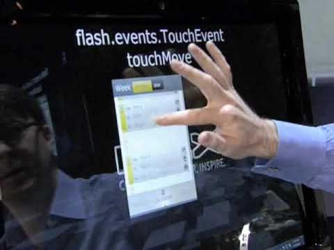 Multi-touch feature demo in Adobe AIR 2 and Adobe Flash Player 10.1