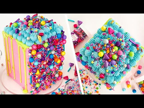 Top 5 Incredible Ways To Use SPRINKLES On Cake! | How To Cake It Step By Step