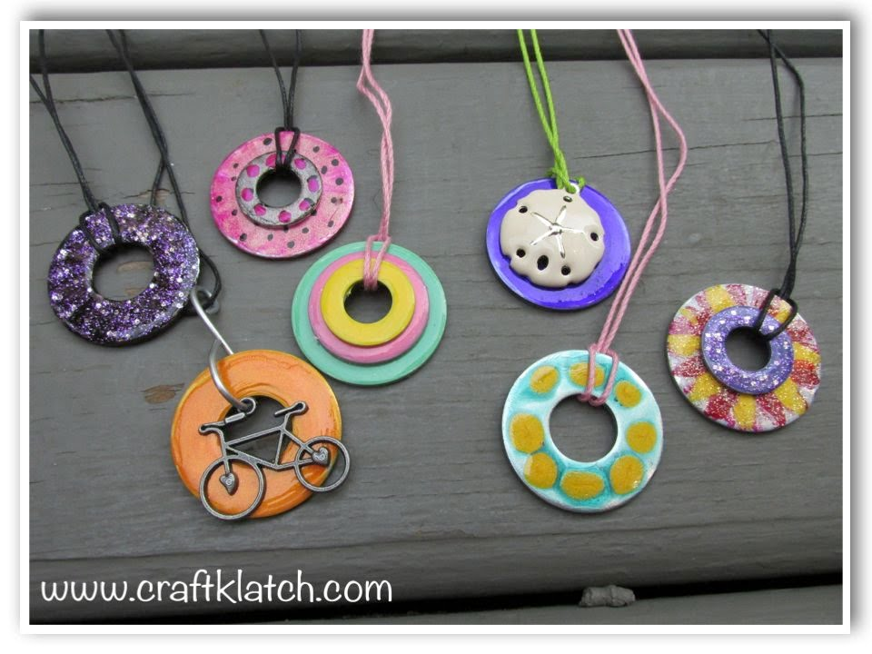 Diy Nail Polish Washer Necklaces Hardware Jewelry
