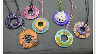 DIY Nail Polish Washer Necklaces   Hardware Store Jewelry