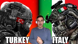 Italian Reaction To Italy vs Turkey Military Power Comparison 2019