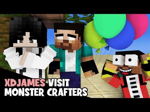 Monster School : XDjames And Sadako Visit Monster Crafters - MineCraft Animation