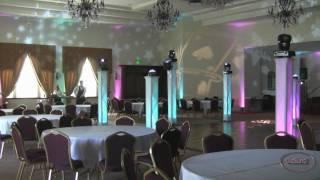 Amazing Casino Night Uplighting Low Fog New Vizi 5R ADJ Lights Gobo in Lancaster Ca