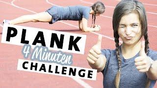 Plank Challenge Bauch Workout - Starker Straffer Bauch in nur 4 Minuten #plank4change
