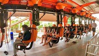 Sky Coaster Ride at Theme Park Dream World in Thailand